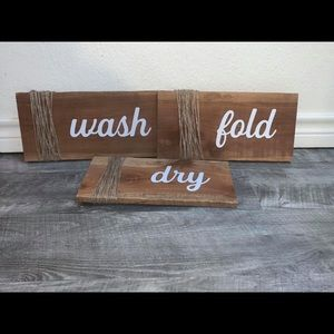 Laundry Room Decor Home Rustic Set